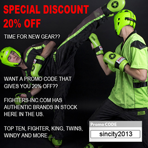 20% Off Fighter's Inc